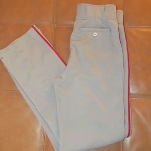 Gray with Red Piping Easton Baseball Medium M